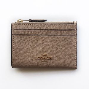 COACH | Tan Leather Card Wallet NWT